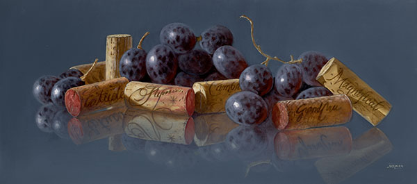 Grapes with Corks